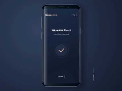 smarthome app - touch id smart smarthome sign in app safety fingerprint recognition touch id design ui animation