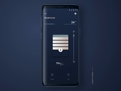 smarthome app - smart curtain curtain smarthome smart ui design app animation