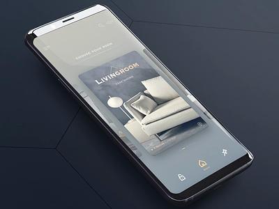 Smart home  -  Room card house card home room ui smarthome smart design app animation