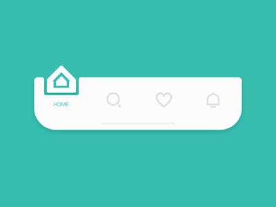 Interactive animation - Tab bar explore design ui animation motion toolbar bottom top tab navigation tabbar icon