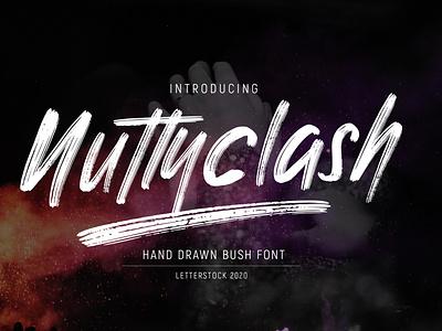 NUTTYCLASH - Hand drawn Brush Font brush script hand drawn font brush font branding lettering logo font typeface font bundle design font fonts typography font design