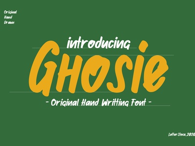 [FREE FONT] Ghosie - Hand Writting Font hand drawn hand lettering hand writting font design logo font font bundle typeface font fonts typography lettering font design