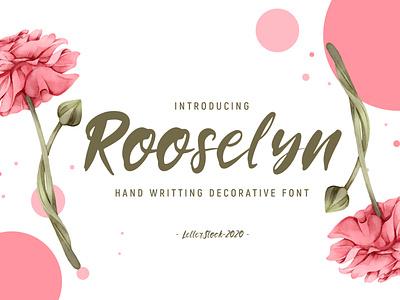Rooselyn - Hand Writting Font logo logo font retro font font awesome fonts collection font bundle design typeface typography font design