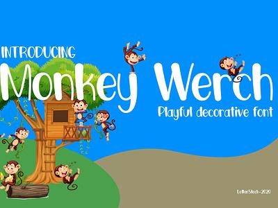 [FREE FONT] Monkey Werch - Decorative font illustration logo font typeface font bundle design fonts font lettering typography font design