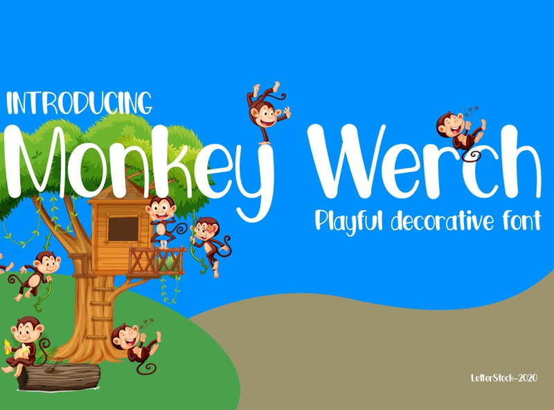 [FREE FONT] Monkey Werch - Decorative font