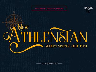 [FREE FONT] Athlenstan - Modern Vintage Serif Font logo font font awesome font bundle design font fonts typeface typography lettering font design