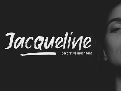 Jacqeuline Font branding typography poster font hand drawn font lettering logo design decorative font brush font design font font