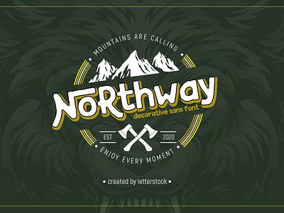 Northway decorative sans font vintage font logo font font awesome retro font fonts collection font design typeface typography font design