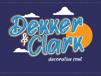 Dekker clark [Hand writing font] logo font font awesome font bundle font fonts design typeface typography lettering font design