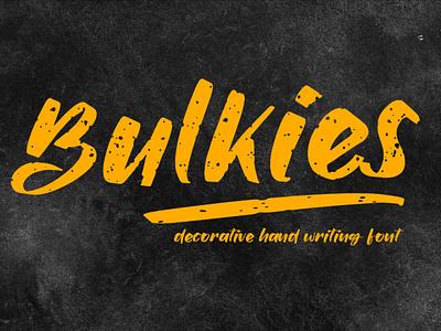 Bulkies [Textured Font] typeface illustration font awesome font bundle font design fonts lettering typography font design