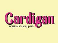 Cardigan font