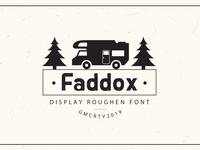 Faddox Roughen Font