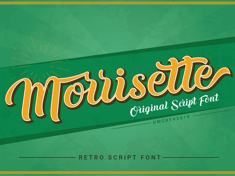 Morrisette font logo alphabet vintage font creative  design script font hand writing display font typeface design illustration font bundle vector fonts collection font awesome typography fonts retro font font design font lettering