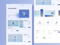 Cosmetics home page ui design