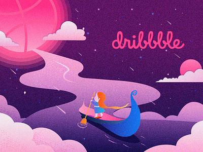 Hello  Dribbble ! 应用 活版印刷 卷筒纸 ui 设计 插图