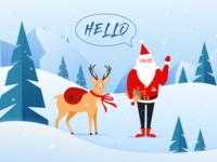 Hello dribbble , Merry Christmas !