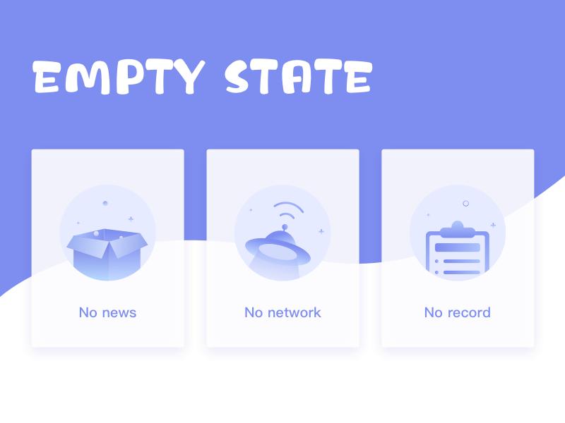 Empty State app icon empty ui blank empty states 设计