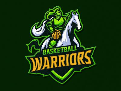 Warriors Basketball illustration basketball warriors horse esport vector mascot logo logo mascot