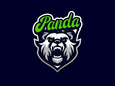 PANDA LOGO illustration mascotlogo animal gaming logo vector esport esportlogo logo head mascot pinterest panda logo panda
