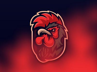 ROOSTER MASCOT LOGO retro rooster mascot logo esportlogo gaming design mascotlogo illustration esport vector mascot logo