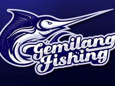 Gemilang Fishing esport illustration mascotlogo marlin fish sea vector logo team fishing logo fishing marlin
