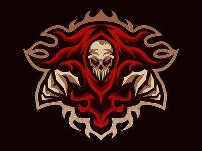 Reaper mascot Logo logoinspiration gaming design esportlogo mascotlogo illustration esport mascot logo vector logo mascot