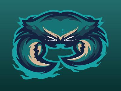 Mascot Logo Crab animal design esportlogo mascotlogo flatdesign crab esport mascot logo vector logo mascot