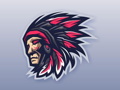 CHIEFS HEAD esportlogo mascotlogo illustration character chiefs head chiefs head chiefs esport mascot logo vector mascot logo