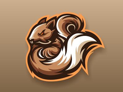 SQUIRREL graphic  design design illustration esport vector logoinspire mascotlogo squirrel logo logos squirrel