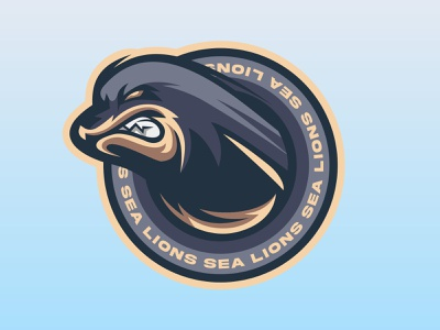 SEA LIONS logodesign design sea sealion esportlogo mascot logo illustration logo vector mascot