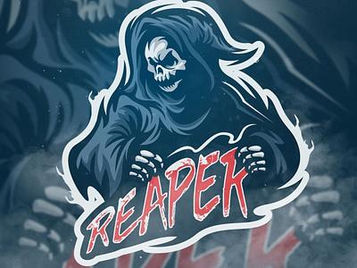 Reaper Mascot Logo skull logo skull art gaming mascotlogo illustration esport mascot logo skull mascot reaper