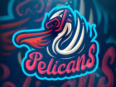 Pelicans Logo logo designer logo esport mascotlogo birds vector pelican logos logo design pelican logo