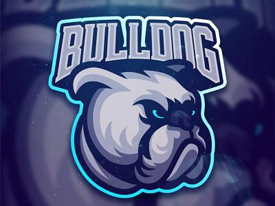 Bulldog angry logo team logo esport mascotlogo mascot animal bulldog dog