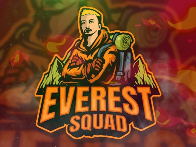 Everest Squad mountain design branding esportlogo illustration mascot logo esport vector logo mascot