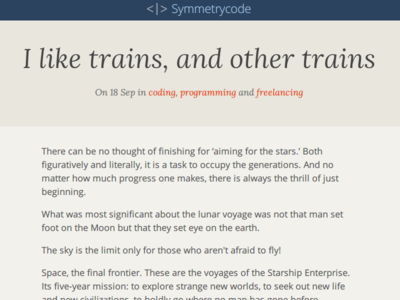 [WIP] Redesigning Symmetrycode