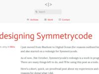 Symmetrycode - Redesigned