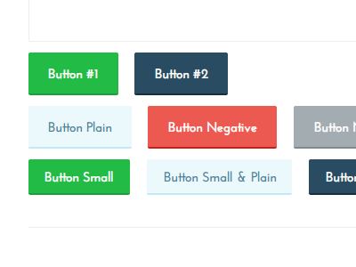 Cutesy Buttons buttons web design flat simple colorful