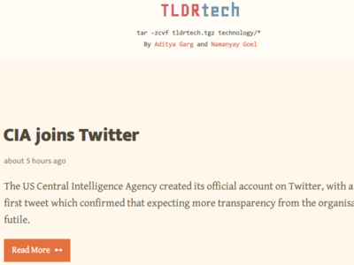 TLDRtech - A site that sums up technology news