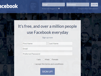 Realistic Facebook Redesign - Sign Up Page v02