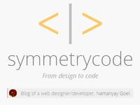 Blog, Symmetrycode's header