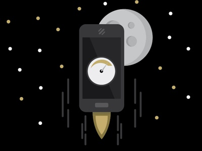 Speed phone mobile space moon