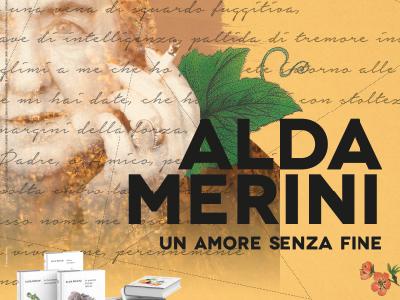 Alda Merini poetry double leaf flower calligraphy news paper print design