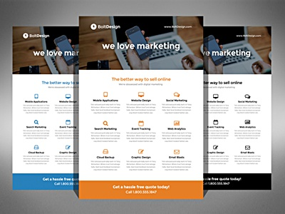 Bolt Marketing Flyer Design By Derek Bess  Dribbble