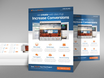 Web Designer Business Flyer by Derek Bess - Dribbble