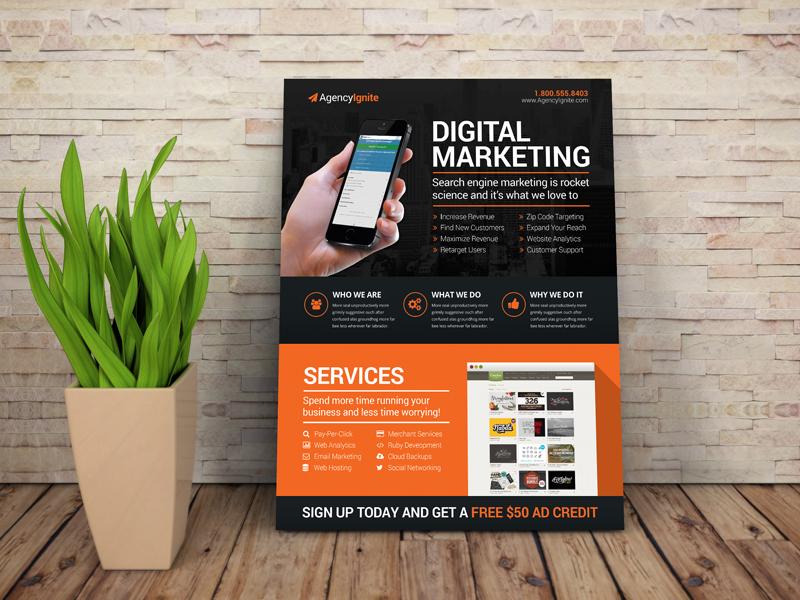 digital marketing flyer by derek dribbble dribbble