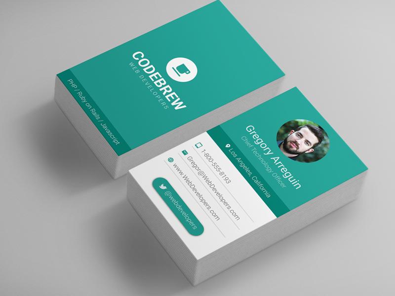 Material design business card teal by derek bess dribbble for Material design business card