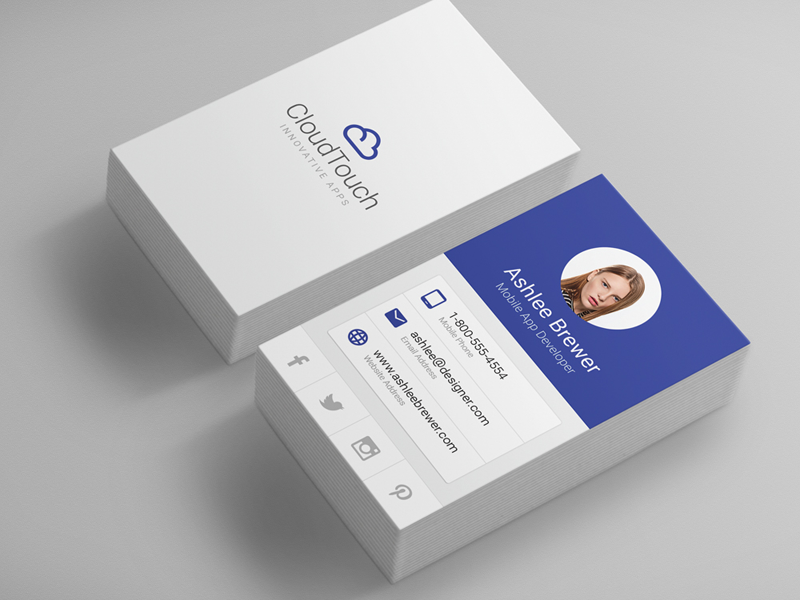 Material Design Corporate Business Card by Derek Bess - Dribbble