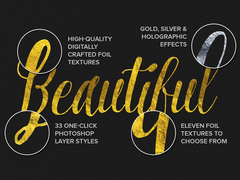 Gold Foil Text Effects by Derek on Dribbble