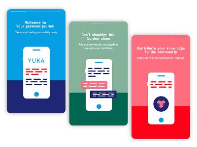 Conceptual diary app | Onboarding screens clean design minimalistic app design mobile app ux ui onboarding screens