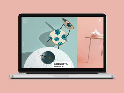 Website for interior design agency (Free XD file) freebie after effect xd design interactive minimalistic interaction design website web design ux ui